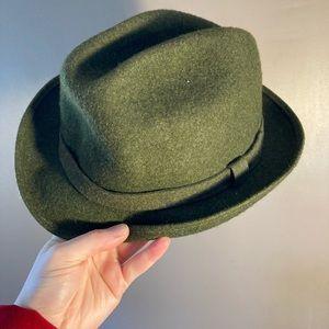 Pendleton army green olive virgin wool hat